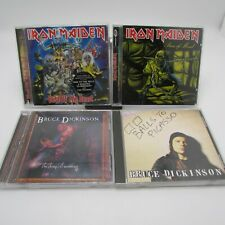 Lot of 4 Iron Maiden/Bruce Dickinson CDs Piece Mind Best Balls Chemical Wedding