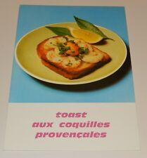 Fiche Recette de CUISINE Pain JACQUET : Toast aux Coquilles Provençales Vintage