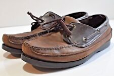 Falls Creek Mens leather boat shoes size 9.5