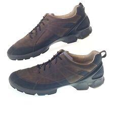 ECCO Biom Grip Men's 12 46 Brown Leather Walking Comfort Sneakers Shoes EUC