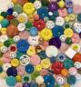Lot 150+ Vintage Buttons House Coat Plastic Pierced Flower Colorful