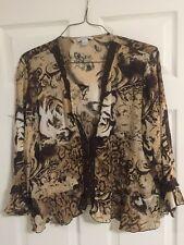 Women's Dress Barn XL Brown Blouse