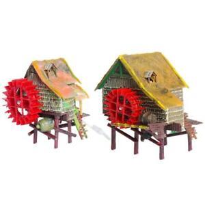 Resin Aquarium Ornaments Imitation Windmill for Air Stone Bubble Oxygen Pump