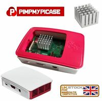 Raspberry Pi 3 White Case & Silver Monster Heat sink with Copper Shiv 3M