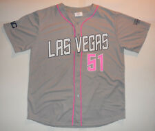 LAS VEGAS 51s GRAY AND PINK Cure Cancer Aviators METS AAA Minor League JERSEY XL
