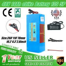 48V 14Ah Lithium li-ion Battery Pack 700W eBike Scooter Electric Bike Motor USA