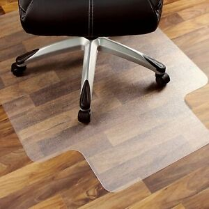 Office Chair Mat Transparent Hard Floor Protector Heavy Duty Polycarbonate Lip