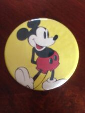 """LARGE HUGE MICKEY MOUSE 6"""" Disney BUTTON YELLOW"""