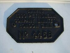 CAST IRON RAILWAY CARRIAGE WAGON IDENTIFICATION CONSTRUCTORS BUILDER PLATE 4of14