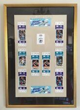Hornets basketball 93 playoff debut frame tickets (Marge Frame Shop Gastonia NC)