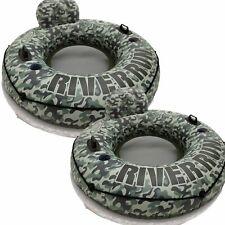 "2 Pack Intex Camo River Run I Tube Inflatable Float Raft 53"" Diameter"