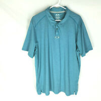 OAKLEY SHIRT Golf Polo Size XL Regular Fit Teal Blue Short Sleeve Mens NEW