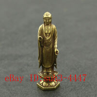 Chinese Hand Engraving Exquisite Copper Brass Cicada Small Statue Ornament