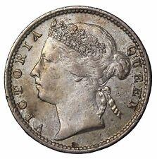 1898 Straits Settlements Silver 10 Ten Cents British Queen Victoria KM#11