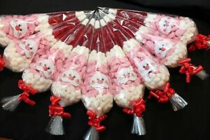 Santa Themed Sweet Cone Christmas Pre Filled Sweets Party Ribbon Kids