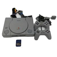 Sony Playstation 1 PS1 Console Authentic With 2 Controllers & Cables Tested