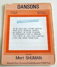 Partition vintage sheet music MORT SHUMAN : Dansons * 70's MORO