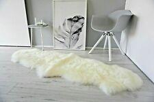 Genuine Australian Double Sheepskin Rug 2 Skin Cream White Super Soft Silky Wool