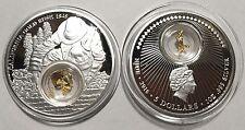 2016 Niue $5 California Gold Rush 1oz PROOF Silver Coin 24k Gold Box COA ~ 1500