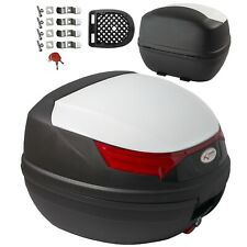 Top Case Box 32 LT Universal Motorbike Scooter Luggage Quad White