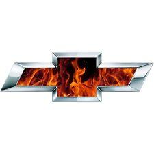 2 Silverado Fire Flames Universal Chevy Bowtie Vinyl Sheets Emblem Overlay