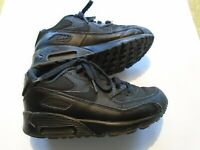Pre-owned NIKE AIR MAX 90 PS Kids Size 1.5 Y Black Shoes 307794-091