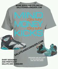 3ed3410647b Jordan 7 Barcelona and Lebron 12 NSRL matching tshirt by SALUTE AND CONQUER