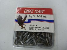 Eagle Claw Insider Tube Jighead, Unpainted 1/32 oz, qt 50, ECJIT132-6