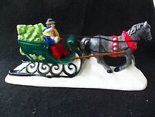 Vintage Dept 56 Christmas Sleigh Ride!  HORSE!  PEOPLE!  TREE!  COLORFUL! TAIWAN
