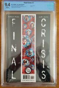 FINAL CRISIS #7 cbcs 9.4 WP 1st  Calvin Ellis- Black Superman unpressed DC comic