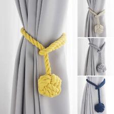 2Pcs curtain rope Ball Curtain Tie backs Holdbacks Curtains & Voiles UK ELE