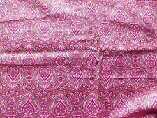Vintage 1940's /50's Cotton Poplin Dress Making Fabric Pink Paisley Style Design