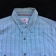 The Territory Ahead Large Short Sleeve Button Up 100% Silk