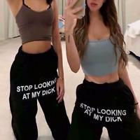 hip-hop pants STOP LOOKING AT MY DICK NEW-style-2020 Sweatpants Men Women Couple