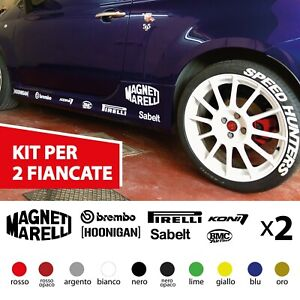 Adesivi sponsor tecnici auto per 500 abarth 595 brembo pirelli tuning 695 sabelt