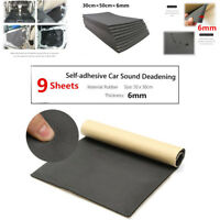 9 Sheets 6mm Car Auto Van Sound Proofing Deadening Insulation Closed Cell Foam