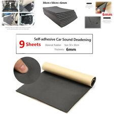 9 sheets 6 mm car voiture van Sound vérification linguistique Deadening Insulation Closed Cell Foam