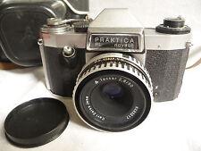 Camera PRAKTICA PL novalB & CARL ZEISS 1:2.8 50mm lens + case  ... E8