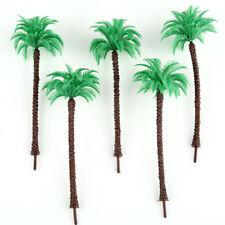 20pcs Layout Model Train Coconut Palm Trees Scale HO 13cm Beach Street Diorama