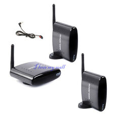 2.4G PAT-240 250M Wireless AV Sender IR Remote Extender Transmitter 2 Receivers