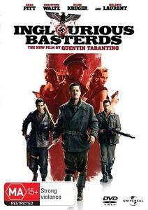 INGLOURIOUS BASTERDS DVD BRAD PITT REGION 4 NEW AND SEALED