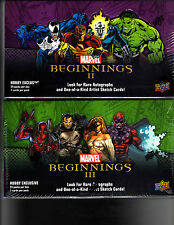 Marvel Beginnings series 2 and 3 sealed Box