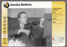 JASCHA HEIFETZ Violin Player GROLIER STORY OF AMERICA CARD