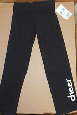 NWT Body Wrappers BLACK CHEER JAZZ PANTS CHILD 6X-7 Style #3494