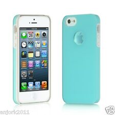 Apple iPhone 5 Back Cover w/ Open Magnifying Logo Ring Case Lucid Blue