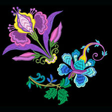 JACOBEAN FLOWERS- 5 MACHINE EMBROIDERY DESIGNS (AZEB)