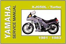 YAMAHA Workshop Manual XJ650 XJ650L Turbo 1981 1982 1983 Service & Repair