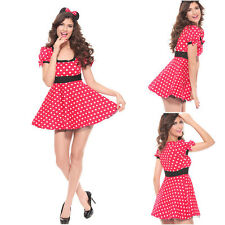 Sexy Minnie Mouse Adult Party Halloween Xmas Cosplay Womens Fancy Dress Costume