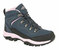 Ladies Womens Ankle Boots Leather Lace Up Hiking Walking Trail Waterproof Shoes