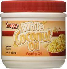 Popcorn Machine supplies - Pure (White) Coconut Oil - 16oz jar